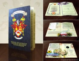 Passport booklet design by gmey