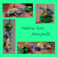 yellow koi fan pull by EruwaedhielElleth
