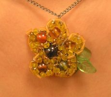 Yellow Flower Pendant by Cillana