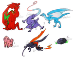 Dragon Egg Adopts (Closed/Hatched) by IceOfWaterflock