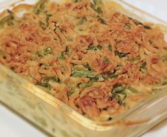 Green Bean Casserole with French Fried Onions by Kitteh-Pawz