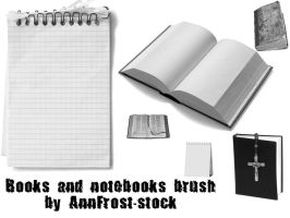 Books and notebooks brush by AnnFrost-stock