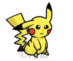 Pikachu Drawing by iVui
