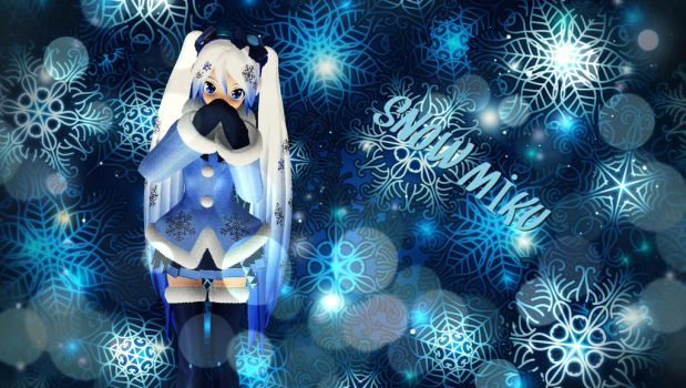 MMD Snow Miku by GalaxyDream23