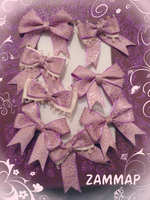 Purple flowers Bows by zammap