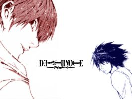 Death Note Wallpaper THREE by kaname
