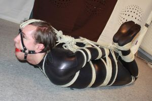 Extreme tight Hogtie 4 by TieMeUpAndTapeMyLips