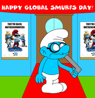 Happy Global Smurfs Day by Maxtaro