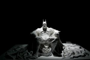 BATMAN : Black and White figure by AlbertoCarrera