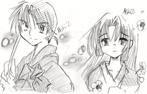 Sango and Miroku by miki2