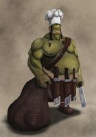 Orc chef by S2uey
