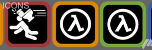 HL2 And HL1 Icons by Thanatos-