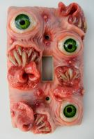 butt tooth switch plate by dogzillalives