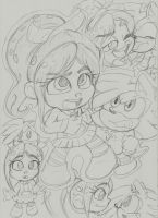 Vanellope and Shaundre Doodles: 3 by Narcotize-Nagini