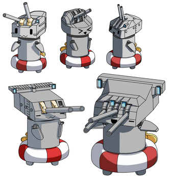 Turret Chans from Kantai Collection by Tzoli