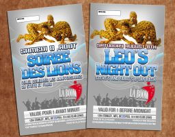 leo's night out flyer by sounddecor