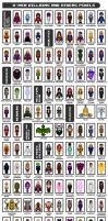 X-Men Villains and Others Pixels by Willianac