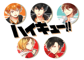 Haikyuu! Button Set by h-yde