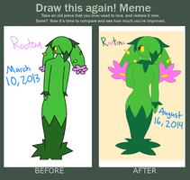 Before and After: Rootena by XDTheSnivy