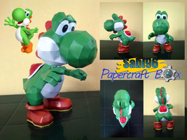 Yoshi Papercraft Official Pic by Sabi996