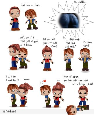 Claire and Steve - Butt comic X) by Dutchydoll