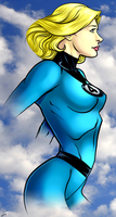Invisible Woman by dwaynebiddixart