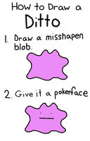 How To Draw a Ditto (Joke Tutorial) by 4themindandsoul