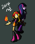 Twilight Sparkle and Sunset Shimmer by rvceric