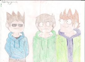 EDD,TOM AND MATT by Eddsworldzinnmister2
