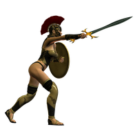 Spartana : Female Warrior 007 by Selficide-Stock
