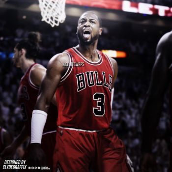 Dwyane Wade to the Chicago Bulls | Jersey Swap by ClydeGraffix
