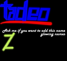 Add your Glowing names! by Bluenex101