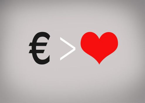 Money greater than love by rgquarkup