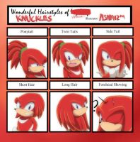 Knuckles Hairsytle Meme by MSN1412
