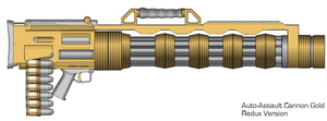 Auto-Assault Cannon Gold by GrimReaper64