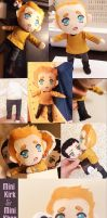 Kirk and Khan mini plushies by botanycameos
