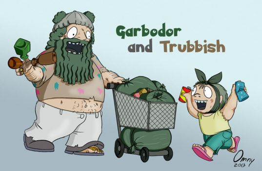 Garbodor and Trubbish by Omny87