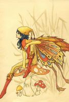 Faery of the Autumn Flame by CrenatedPineapple