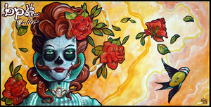 Chica de la muerte by Olive by BPS-TATTOO