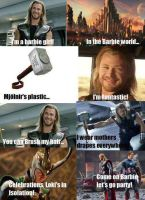 Thor is a barbie girl?? by animefreak10ify
