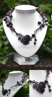 Purple gothic necklace by ukapala