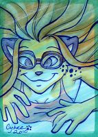 Swimming Cheetah by cybre