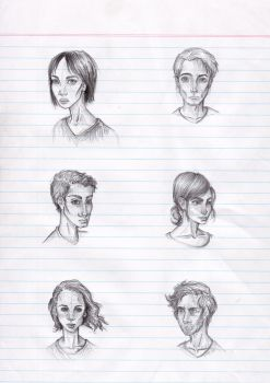Face Sketches by amberthought