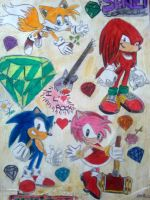 Sonic and friends by Spikinette