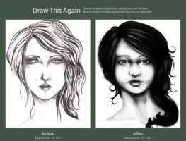 Draw this again - Pretty face by abou3
