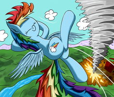 Dashie and her Tornado by Ziemniax