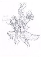 Raf as Warwrick and Trevor as Wukong by terceljr