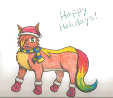 Happy Holidays from Comet by ComIsybell