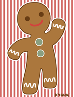 Christmas ID Gingerbread Man by Kyandi-charms