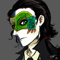 sketchish: lokis masquerade (edit) by nutburgers-official